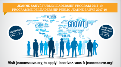Jeanne Sauvé Public Leadership Program Canada