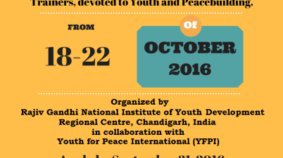 RGNIYD Youth Peacebuilding Workshop Training of Trainers