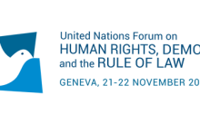United Nations Forum on Human Rights, Democracy and the Rule of Law, Geneva