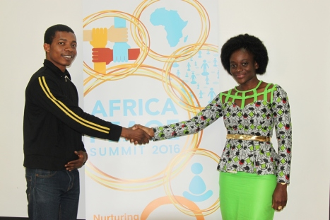 Arielle Ahouansou with Diplomacy Opportunities founder Daniel Nwaeze at the Africa Peace Summit Nairobi, 2016
