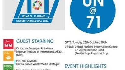 UN day at the UN Information Centre Lagos Nigeria