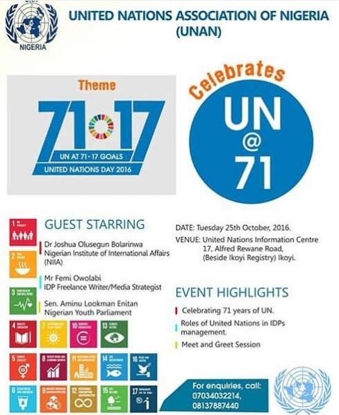 UN day at the UN Information Centre Lagos Nigeria