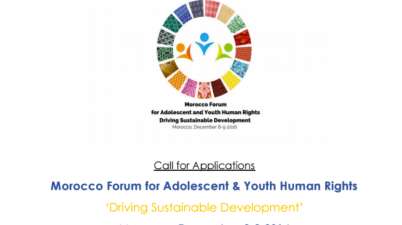 Morocco Forum for Adolescent & Youth Human Rights 'Driving Sustainable Development'
