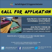 Asia Pacific Forum on Sustainable Development Regional Civil Society Engagement Mechanism