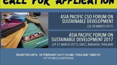 Asia Pacific Forum on Sustainable Development Regional Civil Society Engagement Mechanism