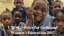 UNESCO Prize for Girls and Women Education 2017
