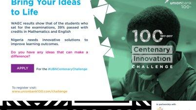 Union Bank and CC Hub Centenary Innovation Challenge