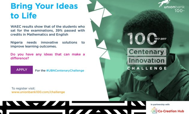 Union Bank and CC Hub Centenary Innovation Challenge