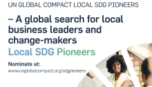 UN Global compact SDGs pioneers