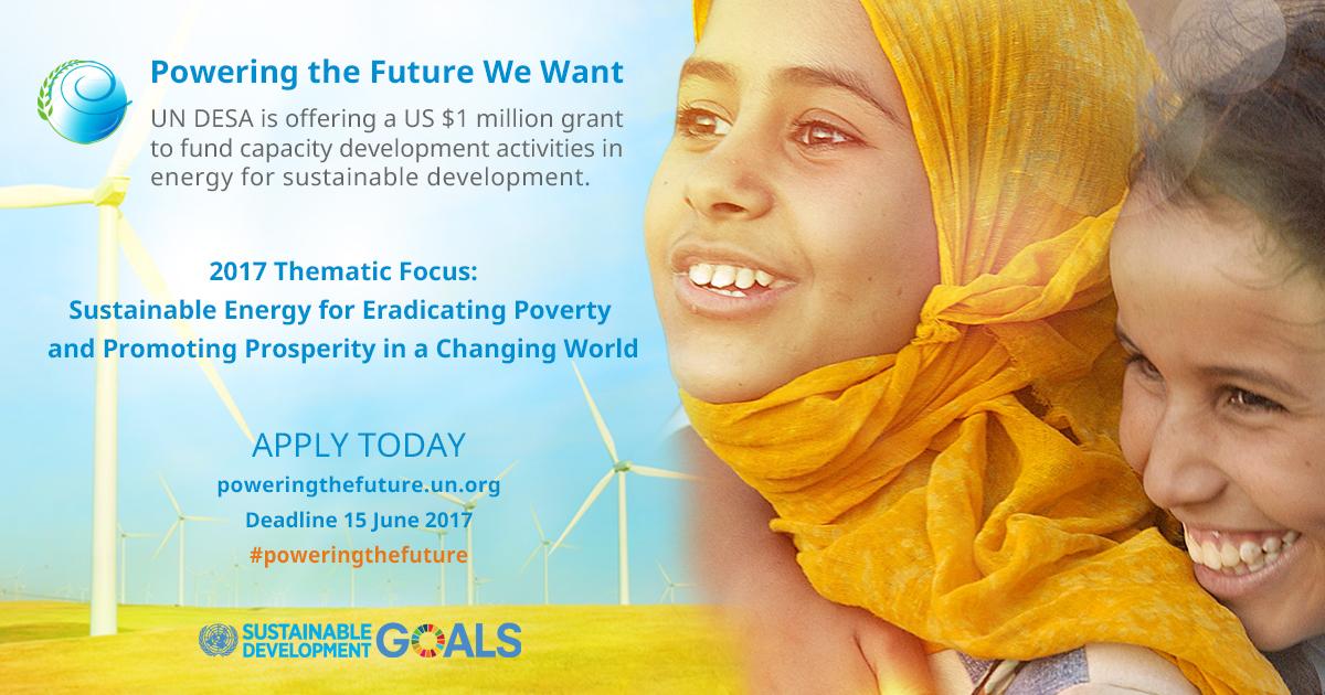 UN DESA Energy For Sustainable Development Grant, 2017 ...