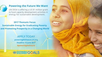 UN DESA Energy For Sustainable Development Grant