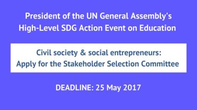 Speakers and Selection Committee Members to United Nations High-level Action Event on Education