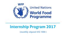 UN WFP Internship 2017