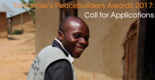 Call for applications: Tommorow's Peacebuilders