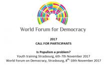 World Forum For Democracy 2017