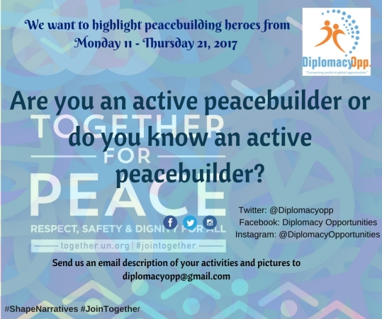 #ShapeNarratives For Young Peacebuilders