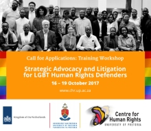 Call for Applications: Training Workshop for LGBT defenders