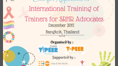 International Training of Trainers on Sexual Reproductive Health and Rights