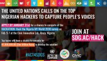 CALL FOR APPLICATIONS: HACK 4 GOOD Hacking the Nigeria National MY World Survey 2030