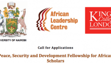 ALC Peace, Security and Development Fellowship for African Women