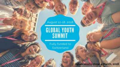 Global Changemakers Global Youth Summit 2018 Fully Funded to Switzerland