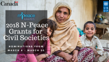 2018 N-PEACE Small Grants For Civil Societies