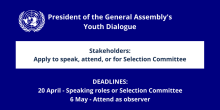 Apply To Speak at The UN Youth Dialogue
