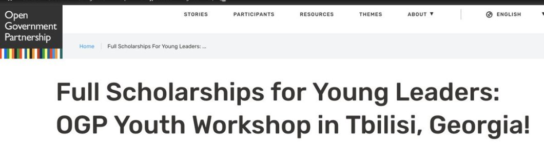 Open Government Partnership Youth Workshop