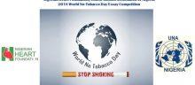 2018 Nigerian Heart Foundation - United Nations Association of Nigeria World No-Tobacco Day Essay Competition
