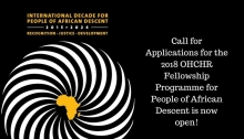 UN Human Rights Fellowship Programme for People of African Descent 2018