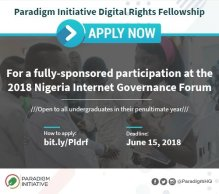 Paradigm Initiative Nigeria Internet Governance Forum Scholarship