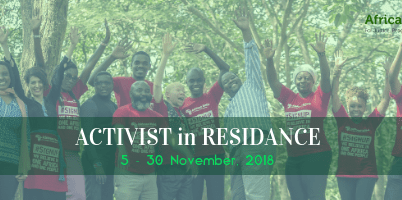 2018 Africans Rising Activist in Residence Program