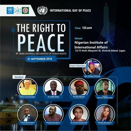 United Nations Association of Nigeria International Peace Day 2018