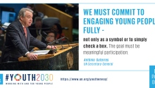New United Nations Youth Strategy #GenUnlimited #Youth2030