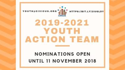 Call For Nominations: 2019 - 2021 CIVICUS Youth Action Team