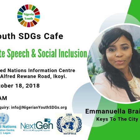 Nigerian Youth SDGs Cafe (October) Hate Speech and Social Inclusion