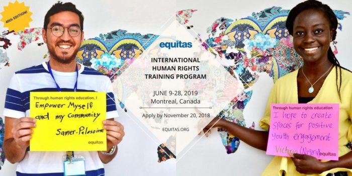 2019 International Human Rights Training Program in Canada