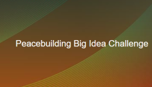 Purdue Peace Project and Alliance for Peacebuilding Big Idea Challenge