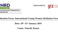 2019 International Young Women Mediation Forum