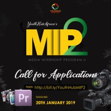 Youth HubAfrica Media Training and Paid Internship Program 2019