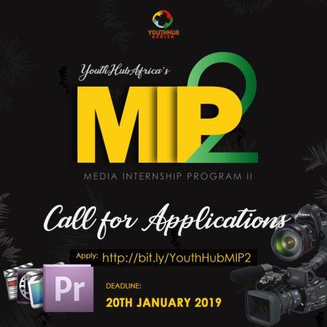 Youth HubAfrica Media Training and Paid Internship Program 2019