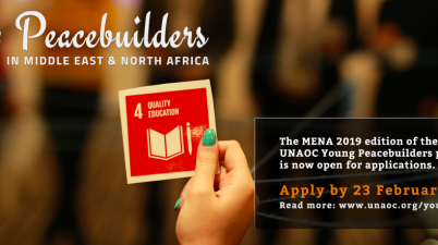 UNAOC Young Peacebuilders in MENA 2019 (Fully Funded)