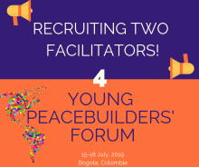 Call for Facilitators For Young Peacebuilders' Forum 2019