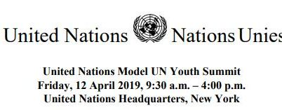 United Nations Model UN Youth Summit 2019