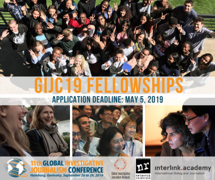 11th Global Investigative Journalism GIJC19 fellowships
