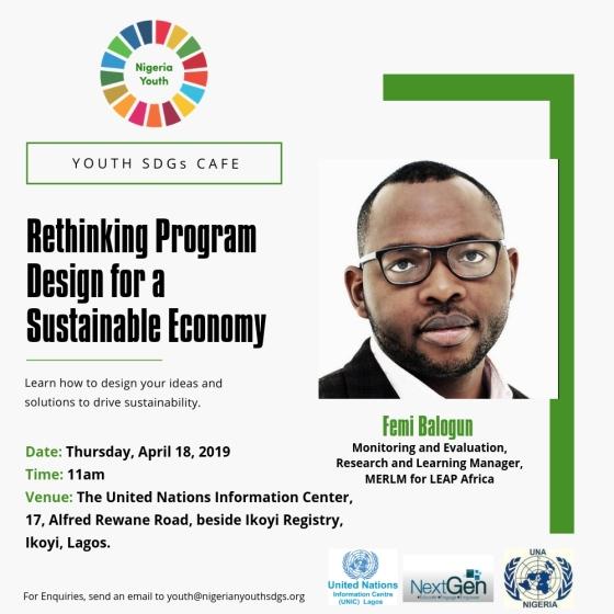 Nigerian Youth SDGs Cafe: Rethinking Program Design For A Sustainable Economy