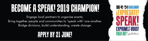 2019 CIVICUS SPEAK Champions
