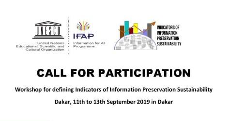 UNESCO Workshop on Sustainability of Information Preservation 2019