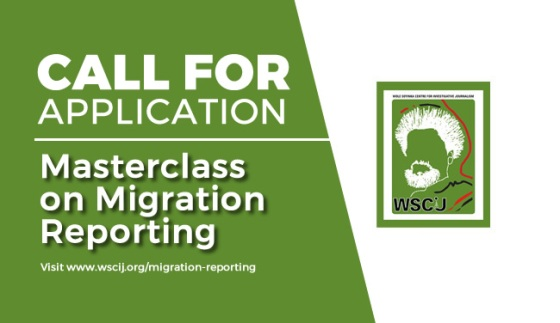 Masterclass on Migration Reporting at Wole Soyinka Centre for Investigative Journalism