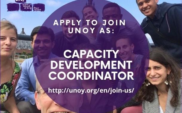 Job Opening: Capacity Development Coordinator At UNOY Peacebuilders 2020